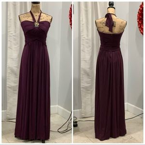 BCBGMaxAzria purple strapless maxi dress size 4